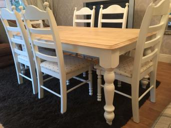 chunky dining table and chairs gorgeous shabby chic oak table and  chairs