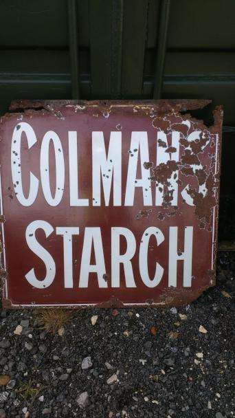 old metal sign colmans starch