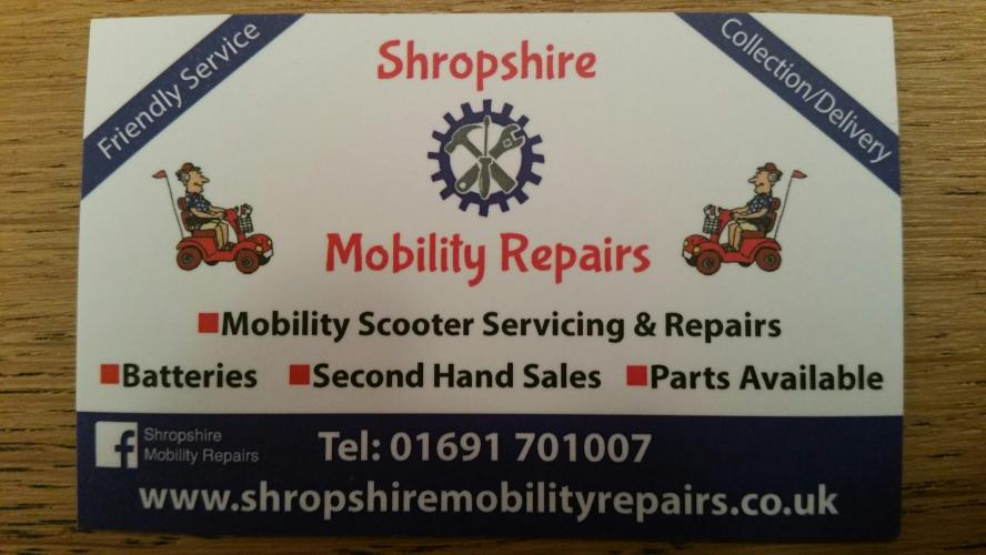 Mobility Scooter Servicing Repairs For Sale In Oswestry