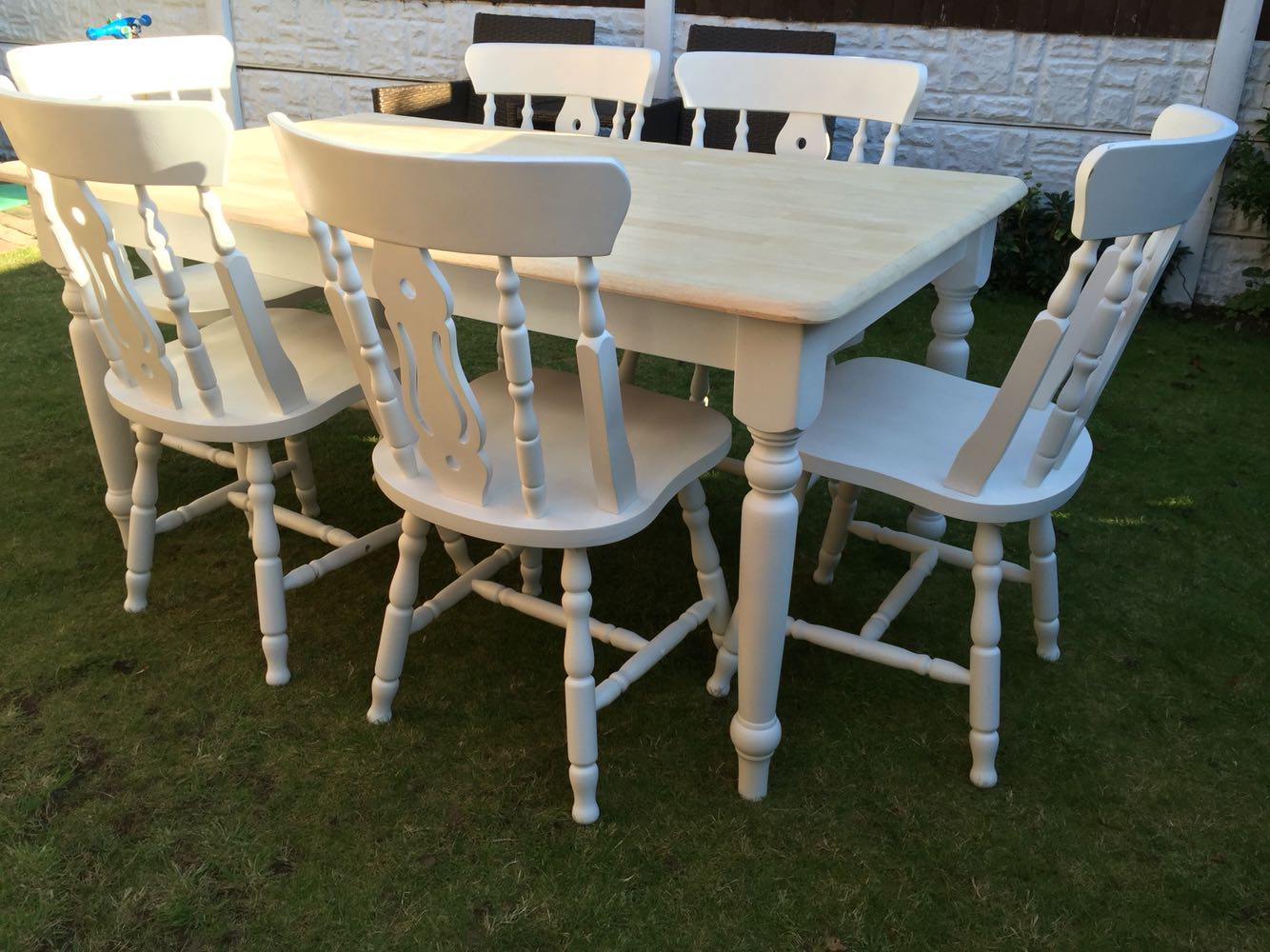 Shabby Chic Oak Table And Chairs for sale in UK