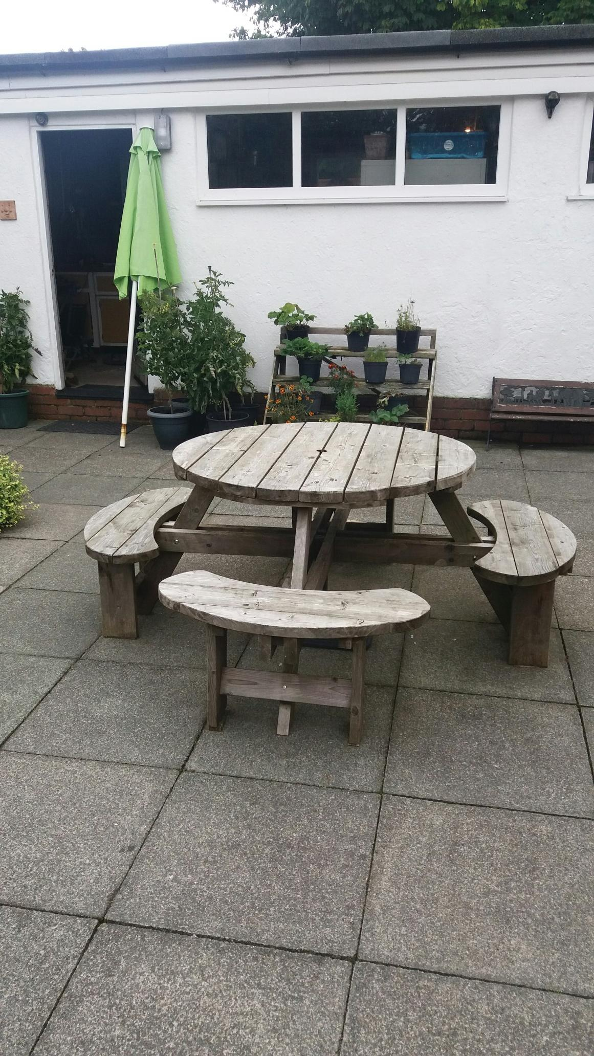 Round Picnic Table For Sale In Uk View 76 Bargains