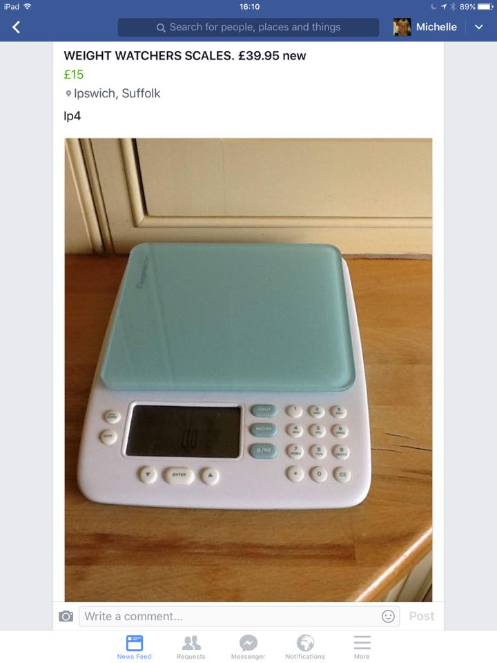 Weight Watchers Kitchen Scales for sale in UK