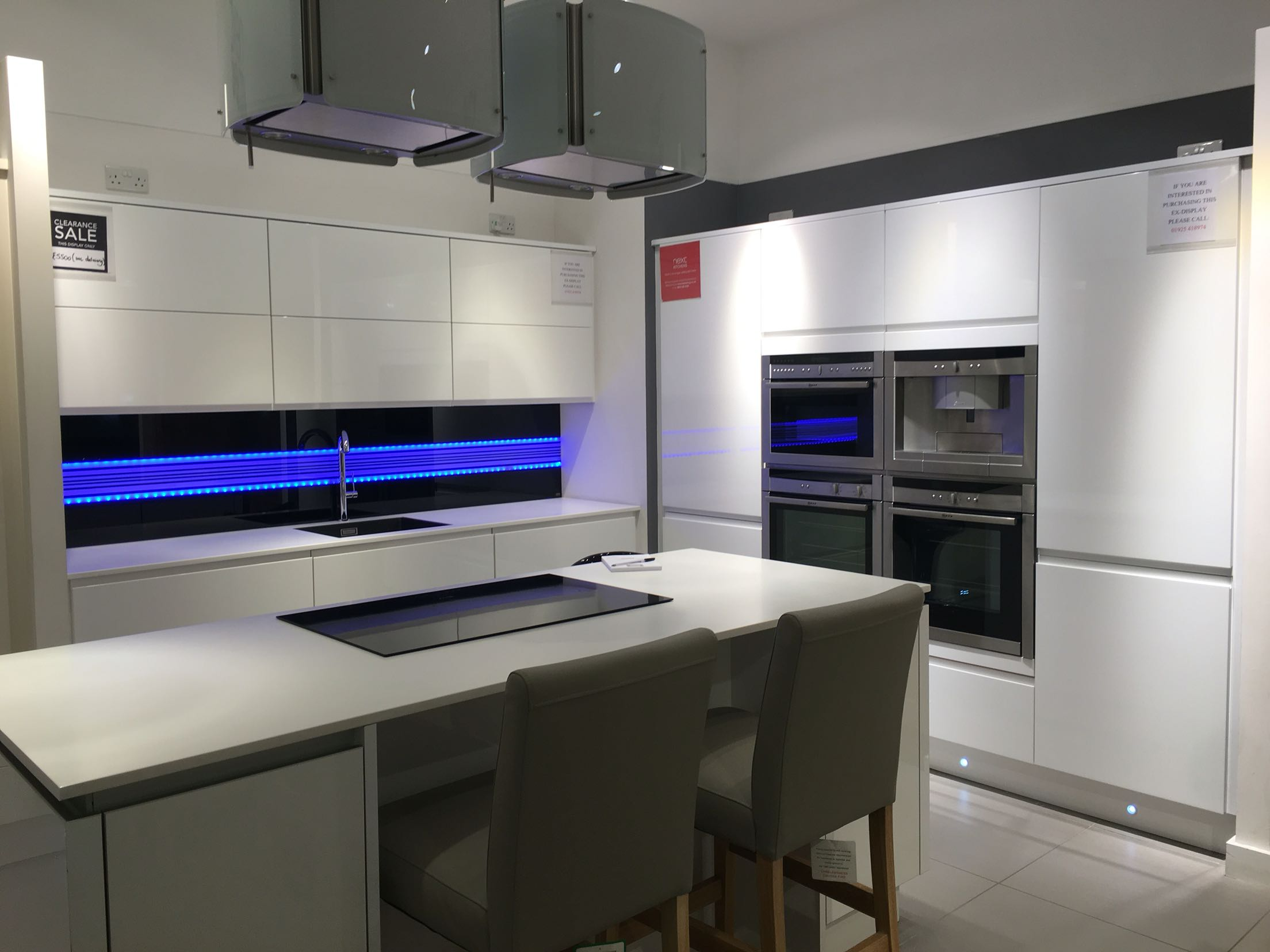 high gloss ex display kitchen for sale in uk