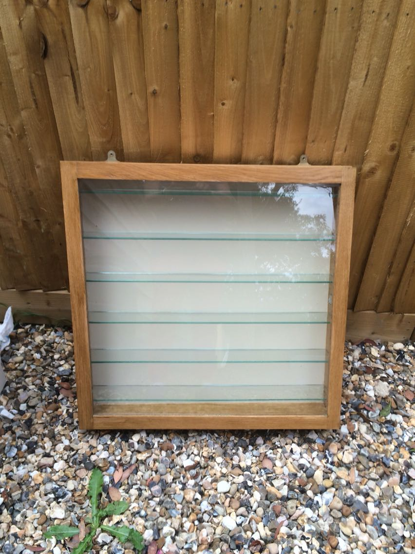 wall mounted glass display cabinet for sale in uk. Black Bedroom Furniture Sets. Home Design Ideas