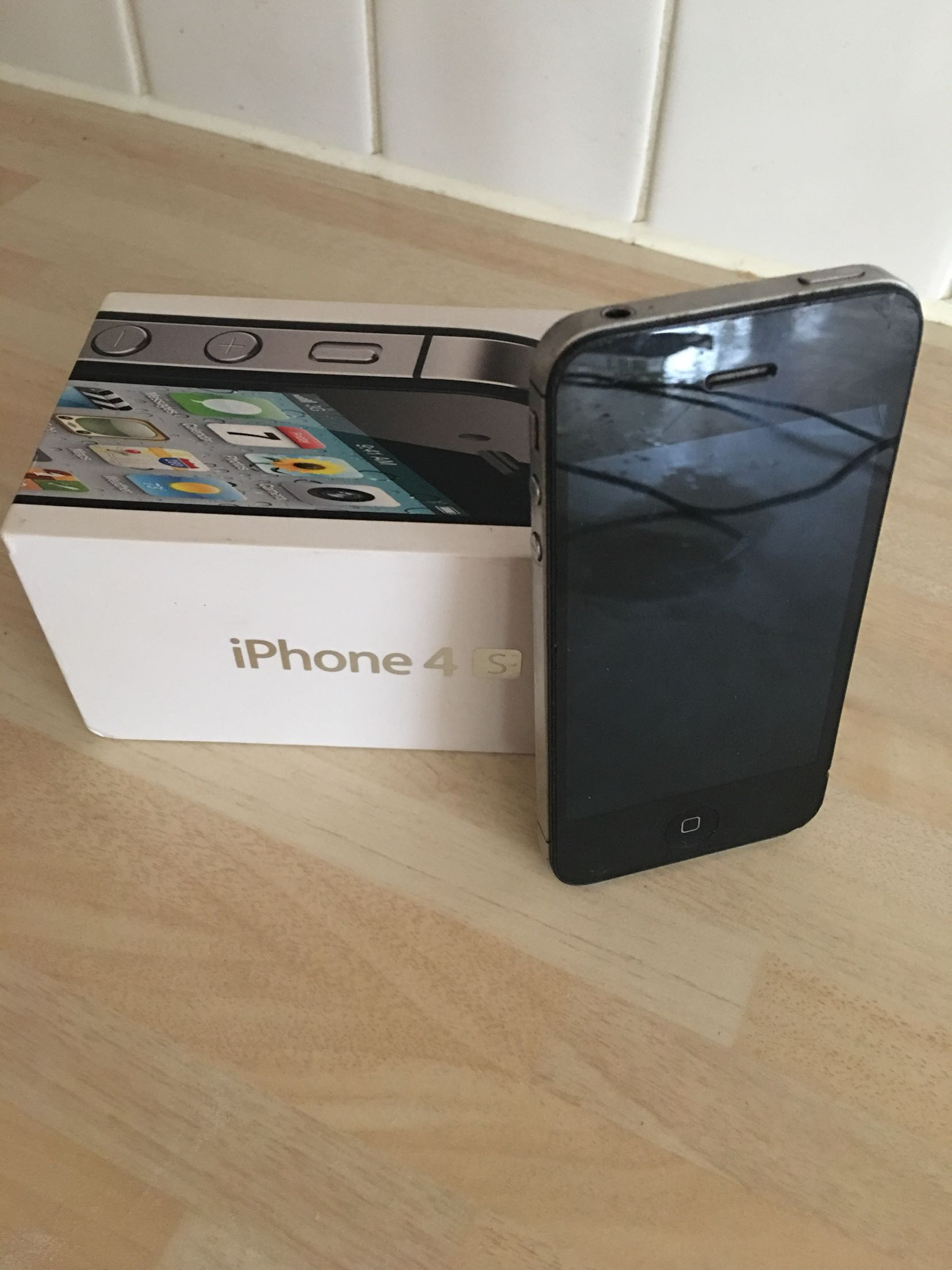 boxed black iphone