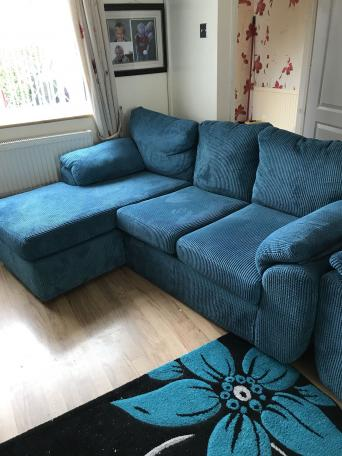 L shaped sofa with armchair. free to good home   Second Hand Household Furniture  Buy and Sell