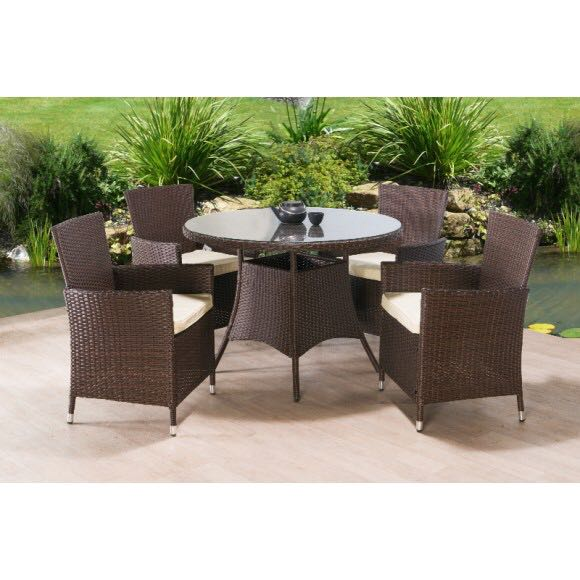 Wicker Sofa For Sale Uk: Rattan Garden Dining Furniture Set For Sale In UK