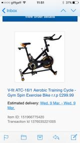 Aerobic Gym Fit Cycle - Gym Spin Exercise Bike - £150