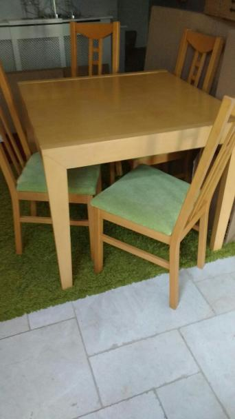 Beechwood Dining Table With 6 Chairs