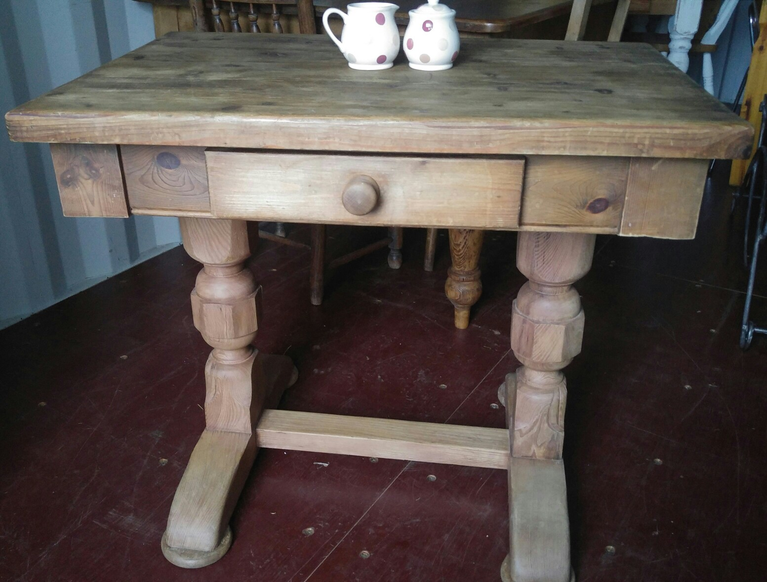 Large rustic dining table for sale in uk view 88 ads for Dining table dressing
