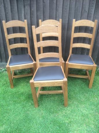 Solid oak dining chairsdining chairs   Second Hand Household Furniture  Buy and Sell in  . Old Dining Chairs Leicester. Home Design Ideas