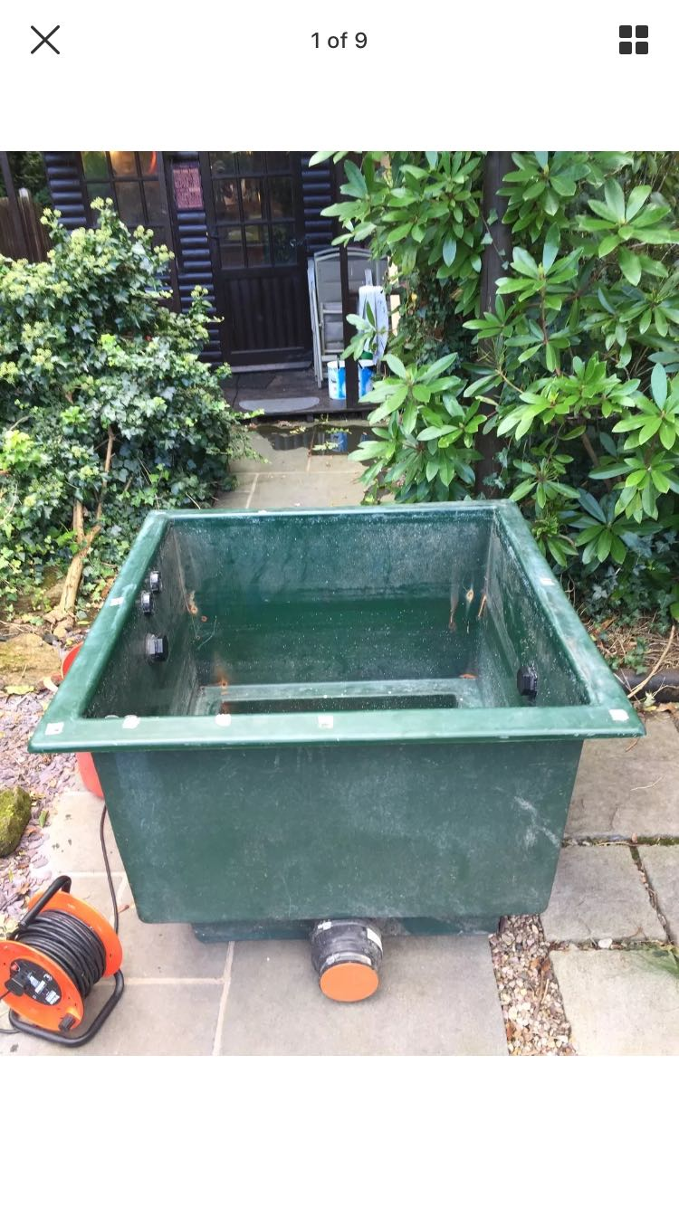 Koi holding tank for sale in uk view 29 bargains for Second hand pond filters for sale