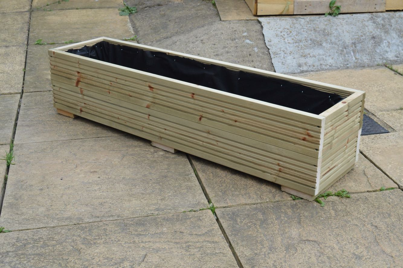 Wooden trough planter for sale in uk view 42 bargains for Garden decking for sale