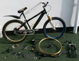 Custom downhill bike plus loads of spares, work stand, tools - £400 ono