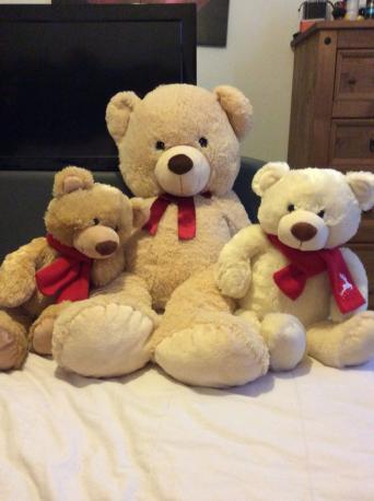 extra large teddy bear for sale in uk view 97 bargains. Black Bedroom Furniture Sets. Home Design Ideas