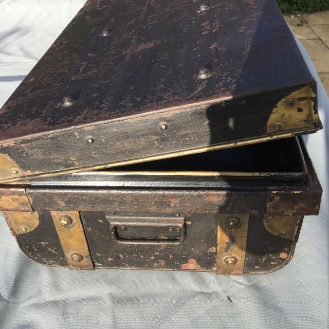 Old Metal Steamer Trunk Coffee Table Storage For Sale In Bromsgrove Worcestershire
