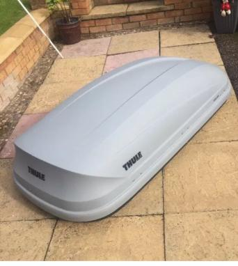 thule pacific roof box for sale in uk view 24 bargains. Black Bedroom Furniture Sets. Home Design Ideas