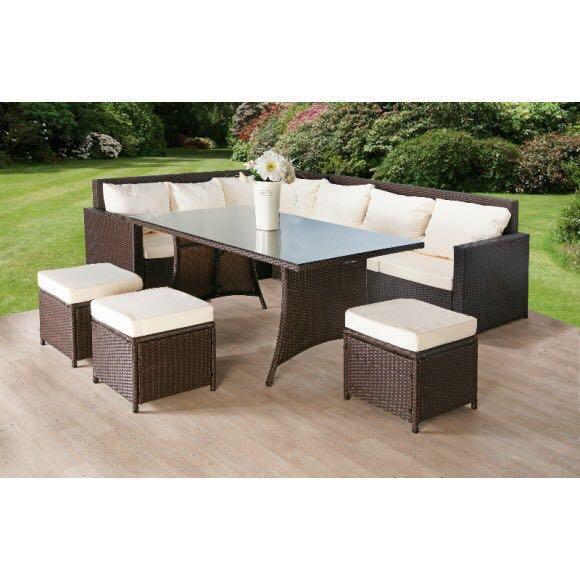 Wicker Sofa For Sale Uk: Rattan Corner Garden Furniture For Sale In UK