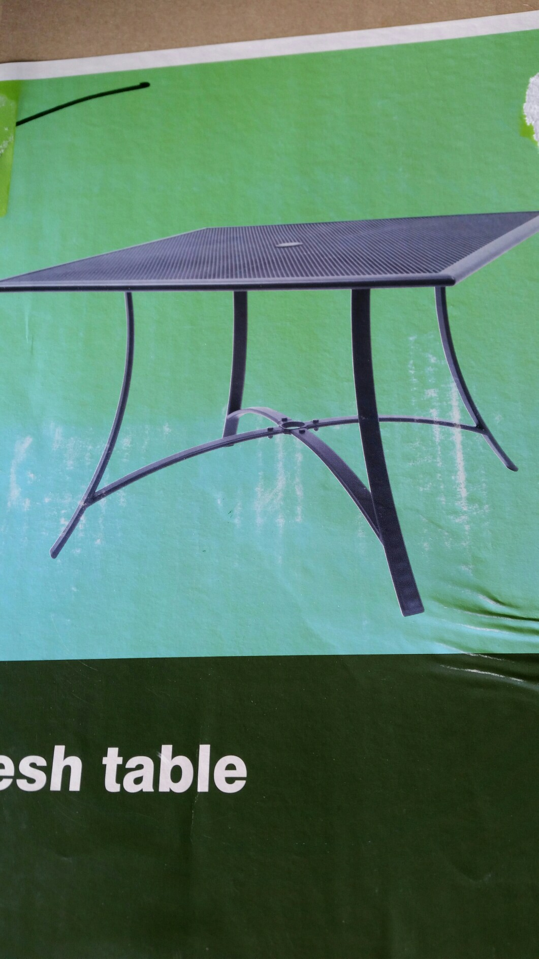 garden table with hole for parasol - Second Hand Garden Furniture