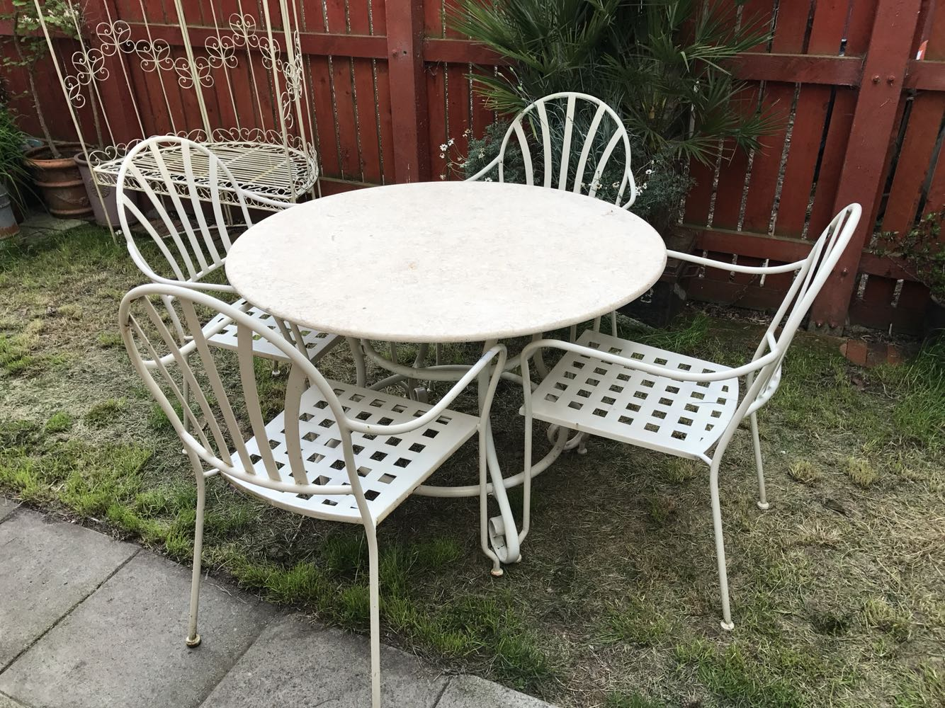 Garden Furniture Kings Lynn Gorgeous Marble Topped Patio Set S