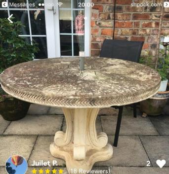 very large stone table