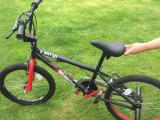 Boys BMX age 10 upwards, red/black with stunt pegs. - £20