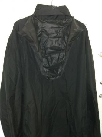 Image 2 of 3XL Black Dunlop Hooded Rain Jacket