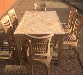 Hardwood Dining Table And 6 Chairs