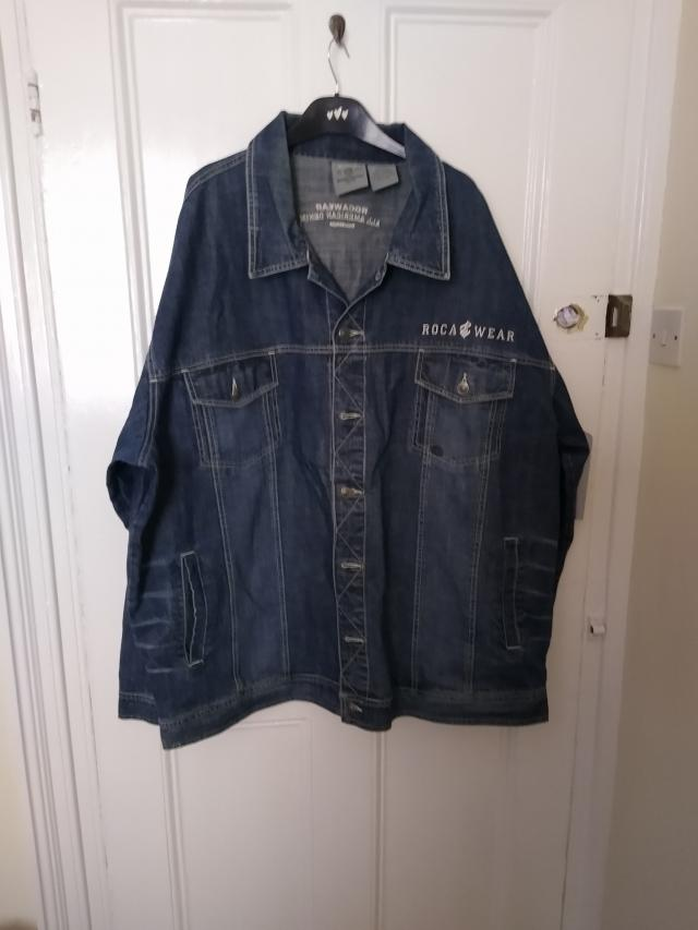 Preview of the first image of Men's 3XL Roca Wear Denim Long Sleeves Jacket.