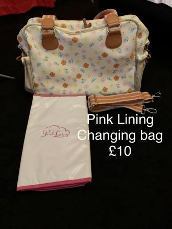 Image 1 of Pink Lining Baby changing bag