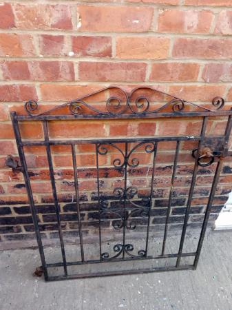 Image 2 of cast iron gate with hinges