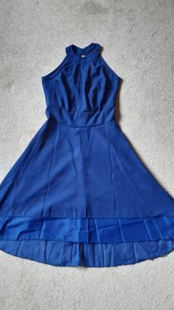 Image 2 of Royal Blue Halter Neck Summer Dress