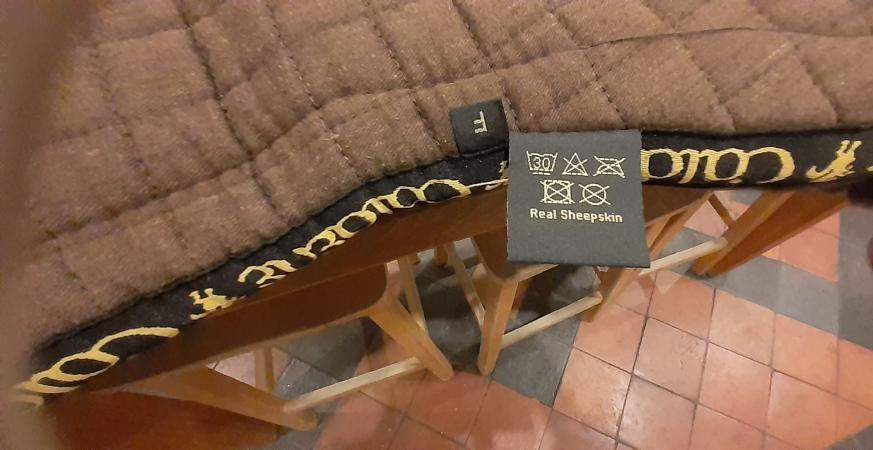Image 2 of Caldene Full Size sheepskin saddle pad