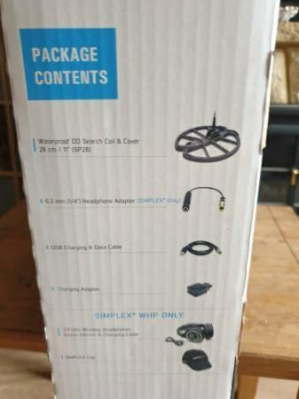 Image 2 of Nokta makro simplex+ whp metal detector wireless headphones.