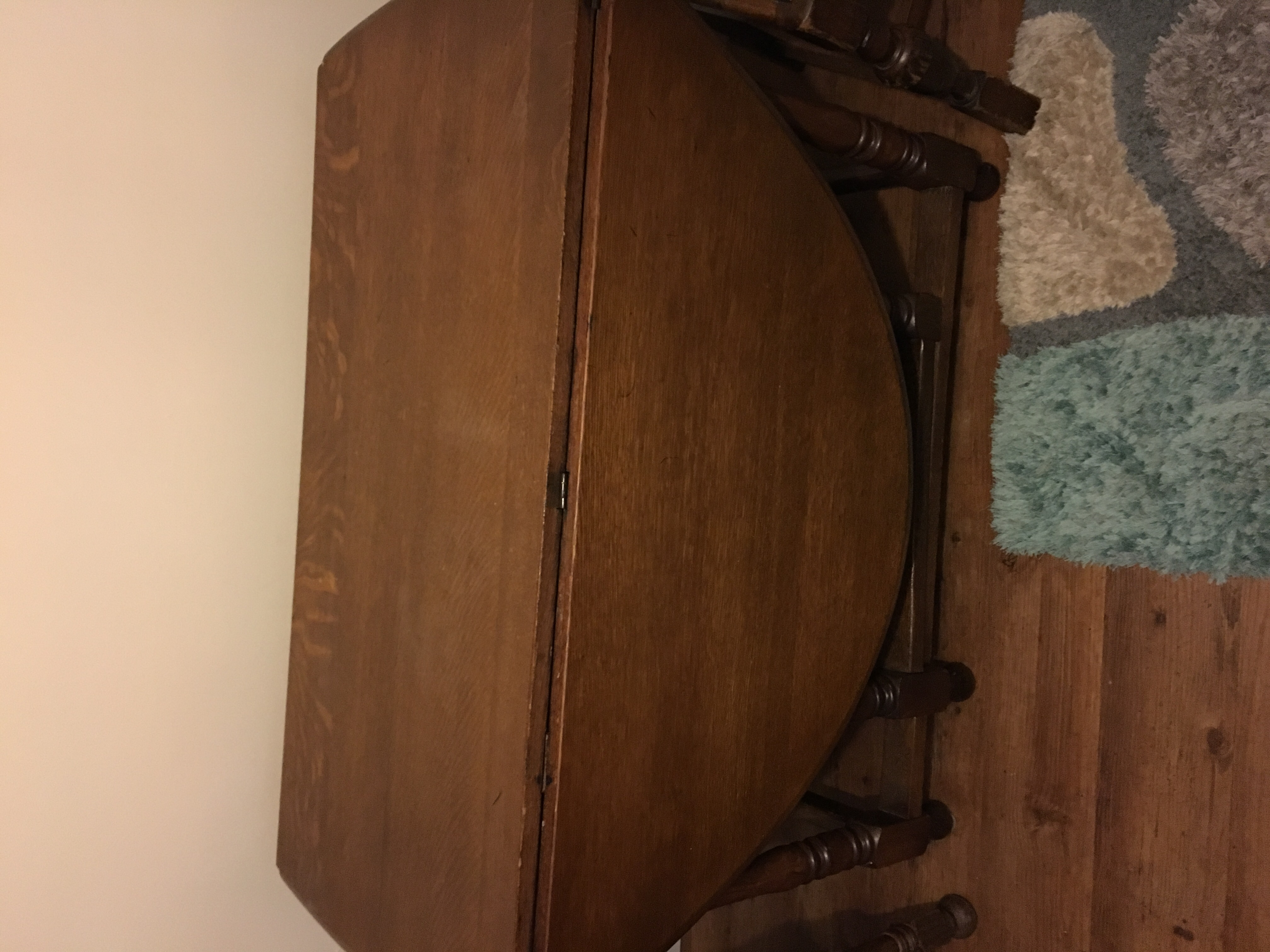 solid walnut real wood antique dining table and 4 chairs for sale in rh preloved co uk