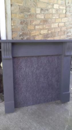 Image 2 of Wooden Mantlepiece Fire Surround With Matching Back Panel