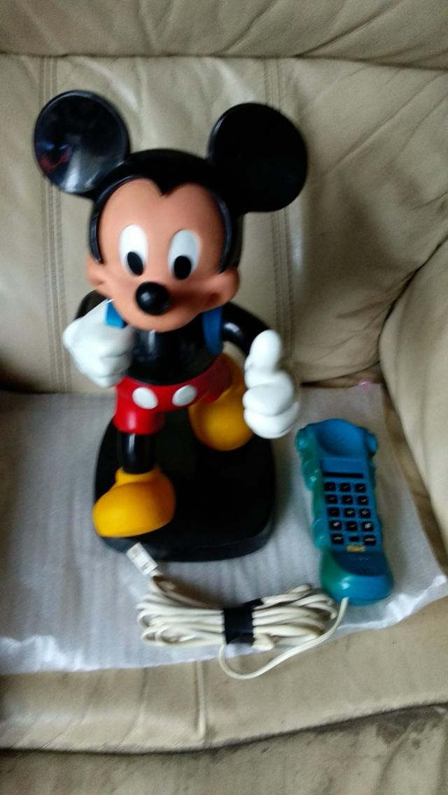 Preview of the first image of VINTAGE MICKEY MOUSE TELE PHONE / CELL PHONE.