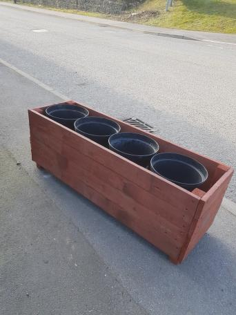 Large planters second hand garden items buy and sell in sheffield all our planters are made from recycled timber any size colour etc with or without plant pots pots in this one are11 diameter 5 extra with pots workwithnaturefo
