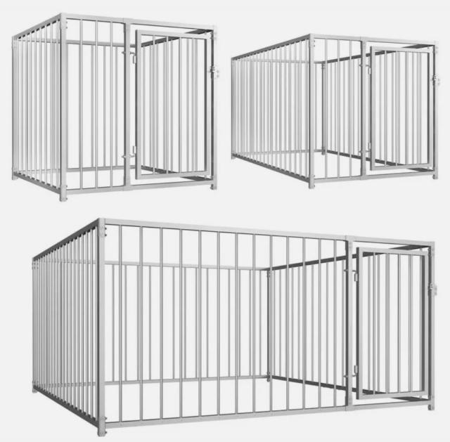 Preview of the first image of Large galvanised dog run / kennel.