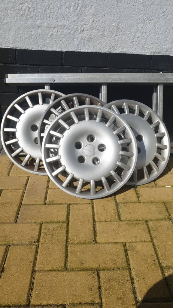 saab 15inch original 1996 wheel trims for sale  Holly Road