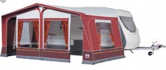 Dorema Daytona Caravan Awning Size 16 1025 1050 Colour Burgundy Immaculate Condition Only Used Twice