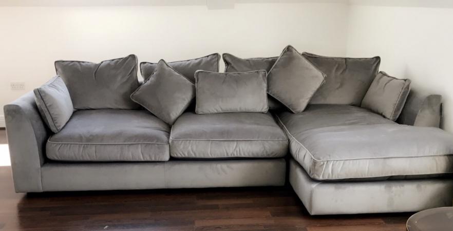 Contemporary Sofa Company Samba Velvet Large Corner Chaise S