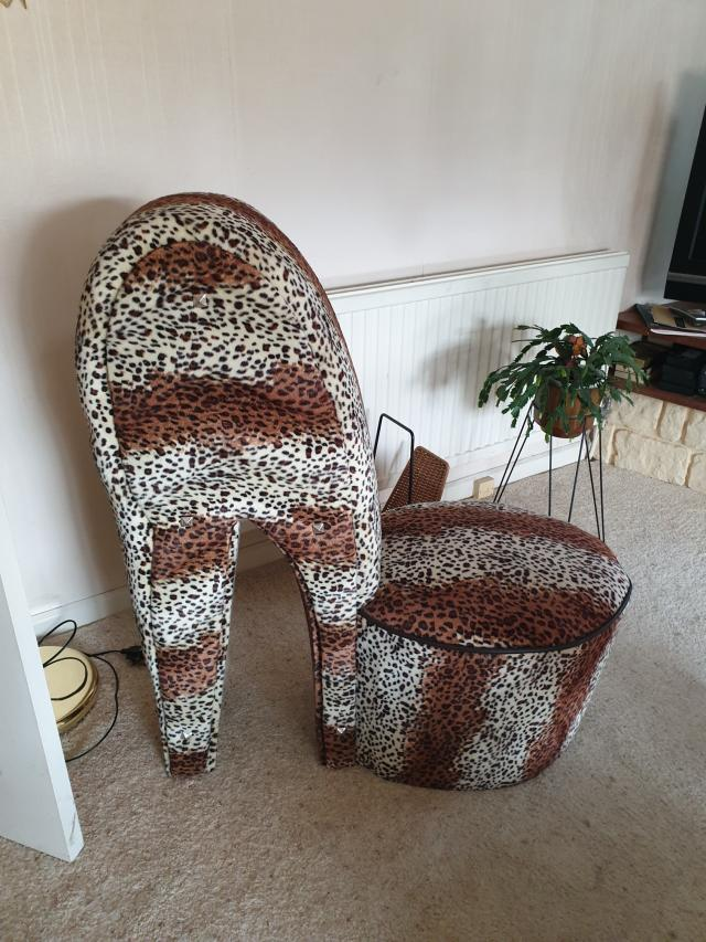 Preview of the first image of Leopard Print Stelletoe Chair.