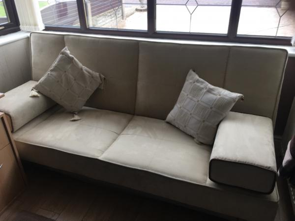 Image 3 of Bed Settee     For Sale Faux Suede