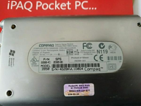 Image 7 of Compaq iPAQ Pocket PC H3950 Windows Mobile 400 MHz, Rare