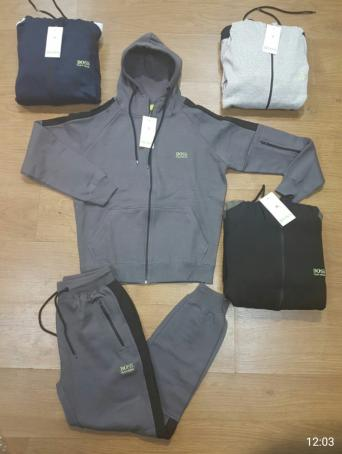 Hugo Boss Tracksuit. Men s sporty and dynamic zip-through hoody by BOSS  Green. Cut to a straight fit from a lightweight cotton blend, the  Saggy   hooded ... f0fba15613