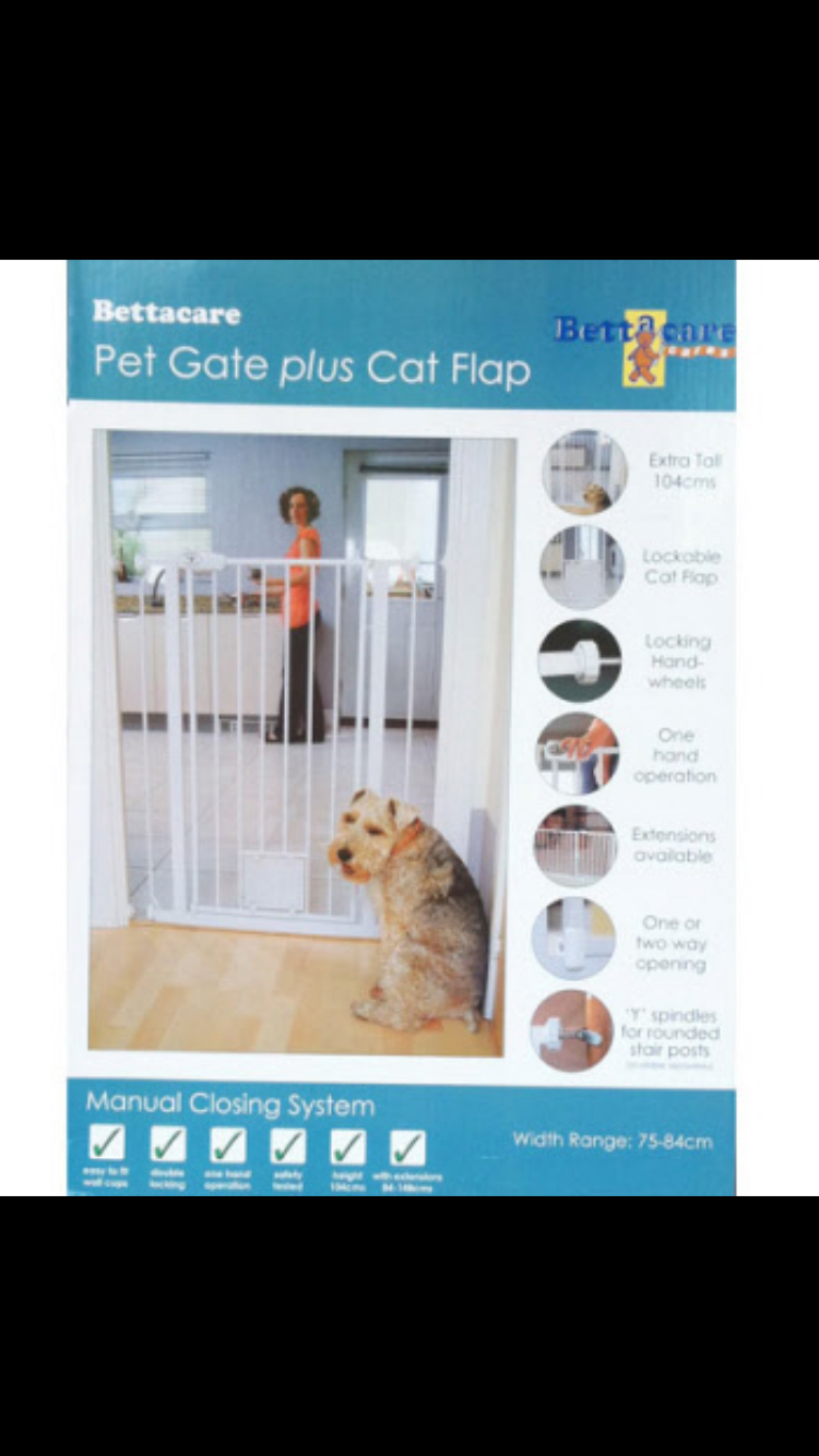Dog Stair Gate And Cat Flap