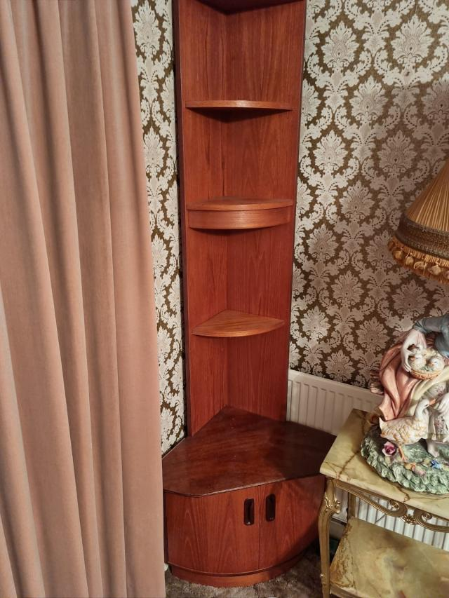Preview of the first image of Corner Shelving Unit - vintage.