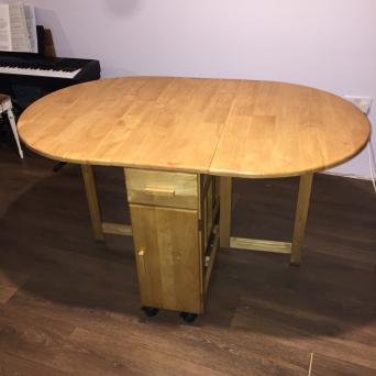Debenhams Wooden Folding Dining Table And 4 Chairs