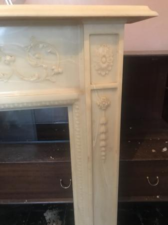 Image 4 of Marble fireplace surround.